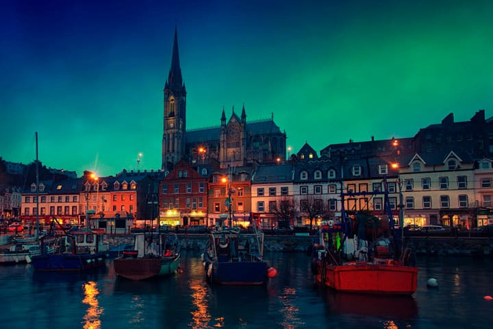 Cobh at night